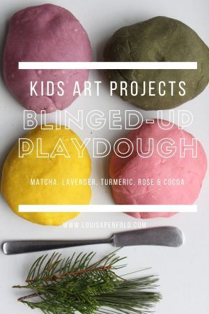 Kids art projects: Make blinged up play dough