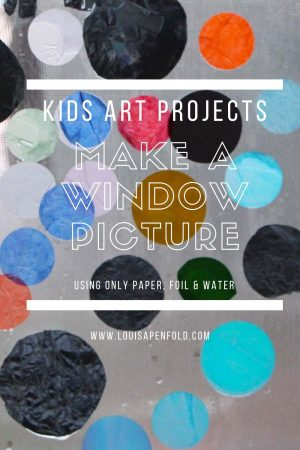 Kids art projects: Make a window picture