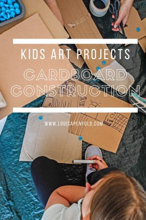 Kids art projects: Cardboard Construction