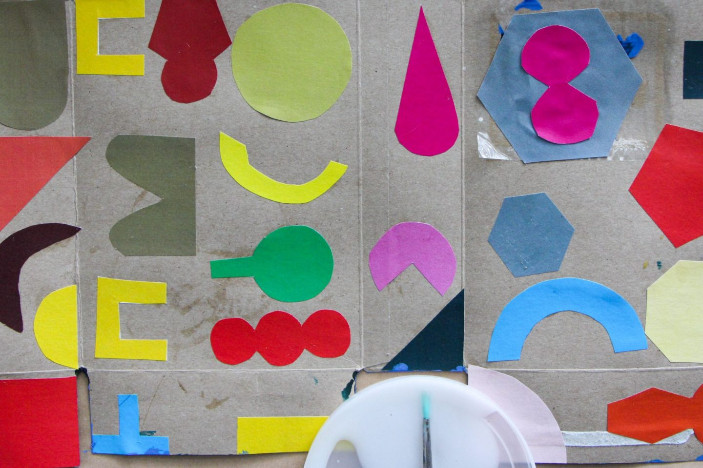 Make a cardboard sculpture with kids