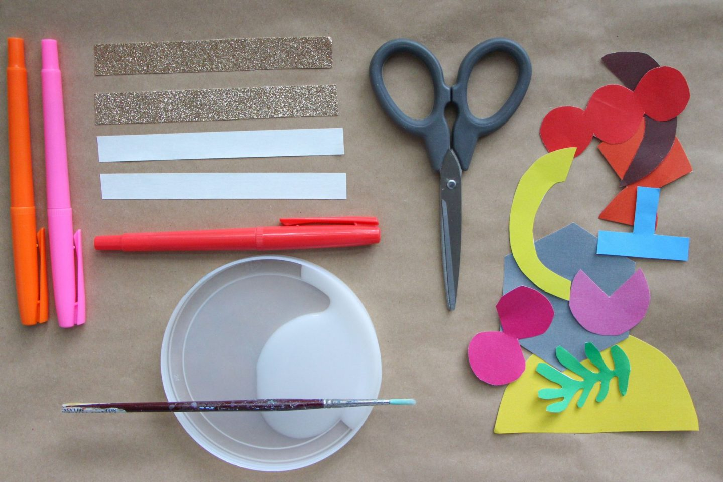 Tools and materials for cutting and pasting with the Play Shapes