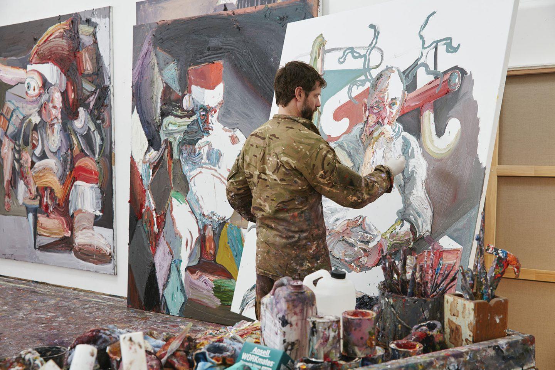 Ben Quilty in his art studio outside of Sydney
